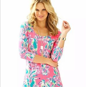 Lilly Pulitzer Beacon Dress in Hot Pink Toucan
